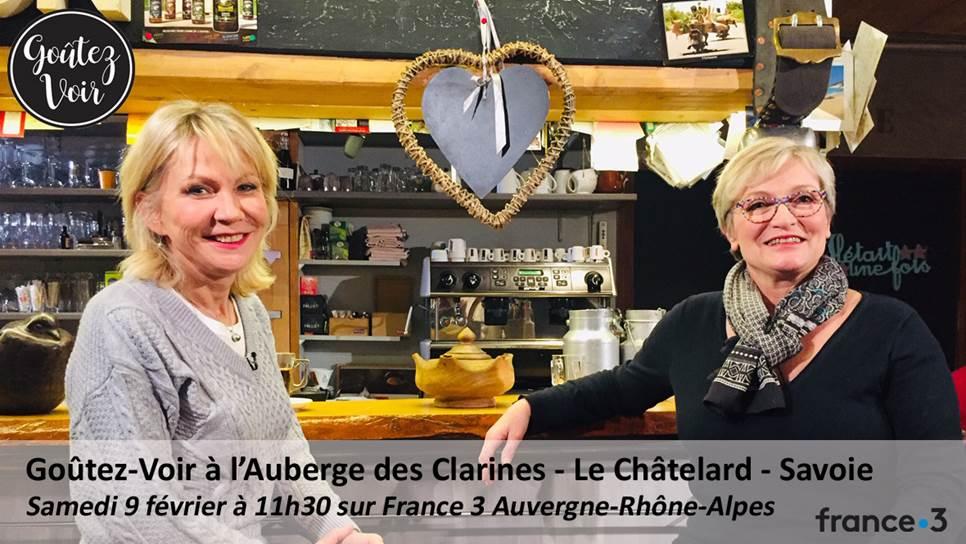 ÉMISSION «GOUTER VOIR» FRANCE 3 AUVERGNE RHÔNE-ALPES