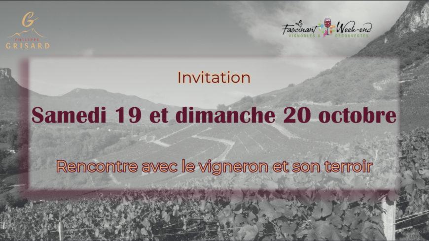 Rencontre avec le vigneron et son terroir les 19-20 octobre 2019