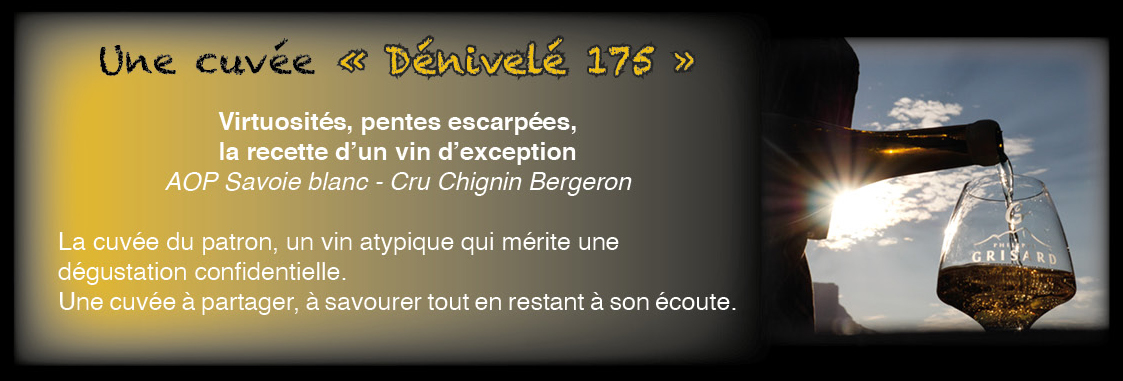 Dénivelé 175 – cru Chignin-Bergeron