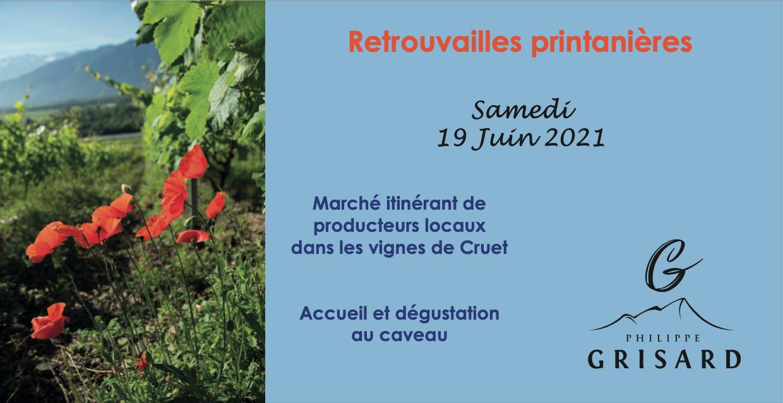 Retrouvailles printanières le 19 juin 2021 – Marché de producteurs